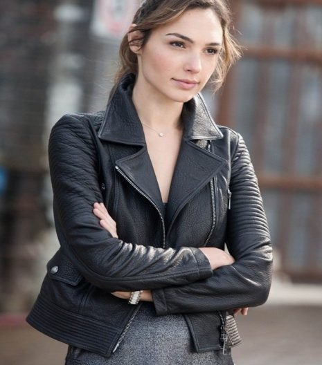 Fast and Furious 6 Gisele Yashar Black Leather Jacket