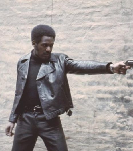 John Shaft 1971 Black Leather Jacket