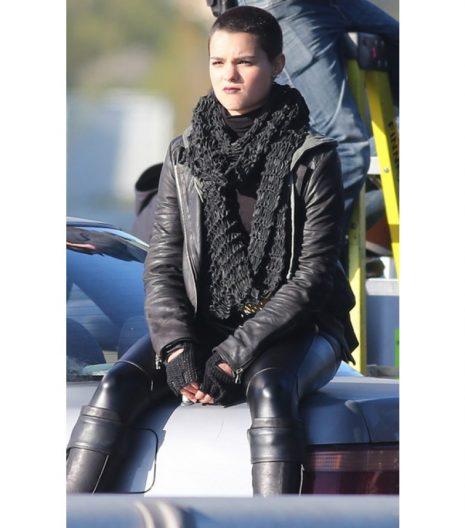 Deadpool Ellie Phimister Black Leather Jacket