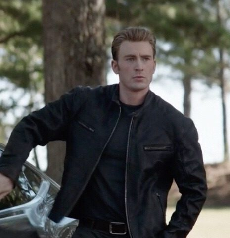 Avengers Endgame Steve Rogers Black Leather Jacket