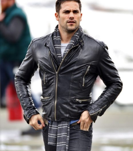 Brant Daugherty Black Leather Jacket