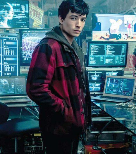 Ezra Miller Justice League Red Jacket