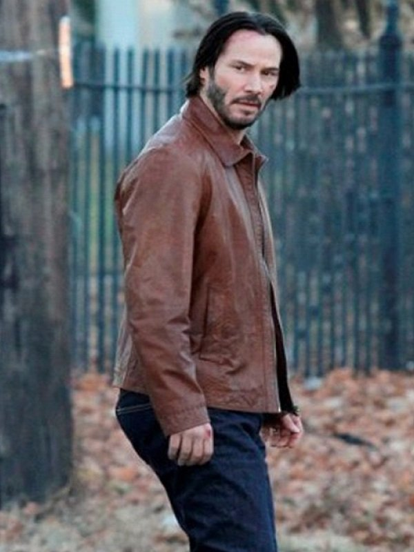 John Wick Keanu Reeves Leather Jacket