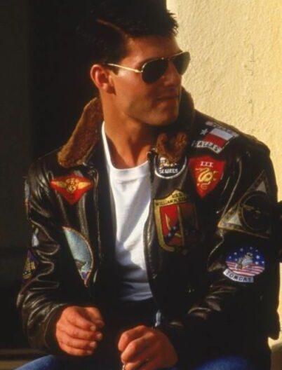 Top Gun Maverick Tom Cruise Leather Jacket