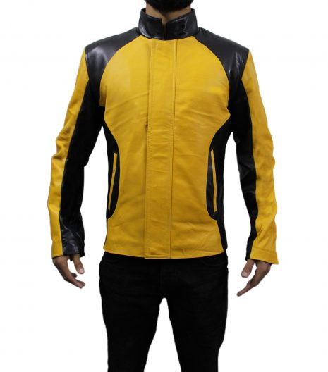 Infamous Cole MacGrath Black And Yellow Leather Jacket