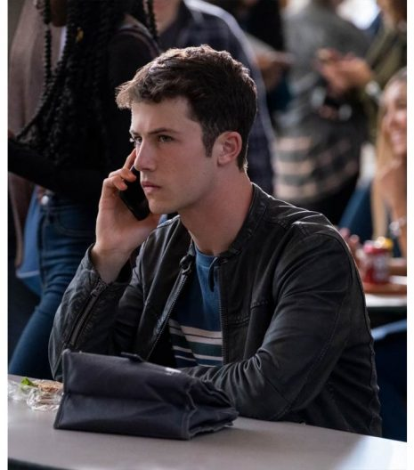 13 reasons why clay jensen leather jacket