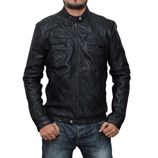 17 Again Zac Efron Black Leather Jacket-800×800