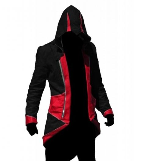 Assassins Creed III Connor Kenway Red Black Cotton Jacket Costume