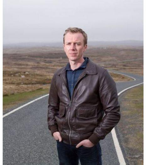 Shetland DC Sandy Wilson Brown Leather Jacket
