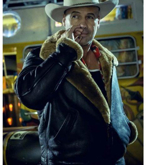 Curfew Joker Jones Shearling Leather Jacket