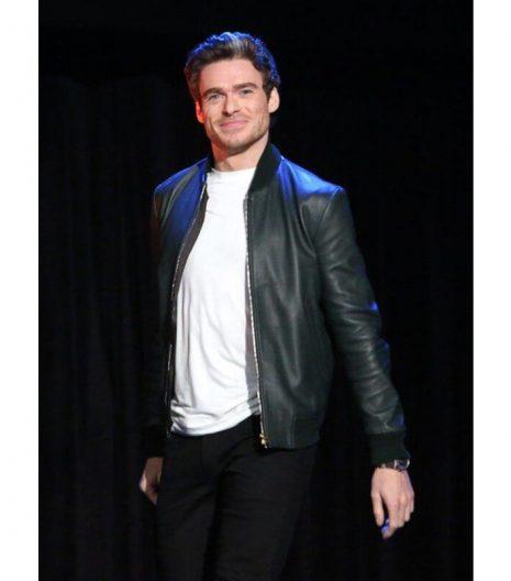 Richard Madden The Eternals Ikaris Leather Jacket