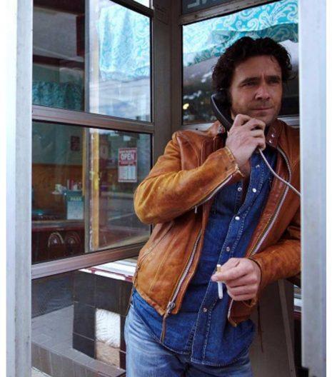 Caught David Slaney Brown Leather Jacket