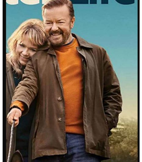 After Life S03 Ricky Gervais Brown Cotton Jacket