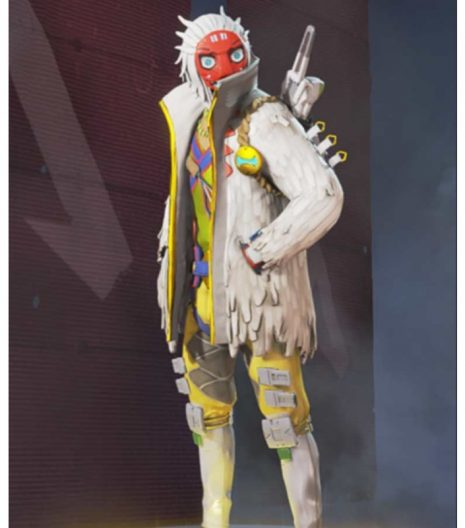 Apex Legends s03 Crypto The Masked Dancer White Jacket