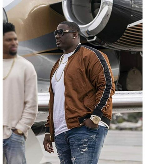 Ballers S04 Vernon Littlefield Bomber Brown Jacket