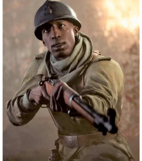 Battlefield 5 deme cisse brown leather coat