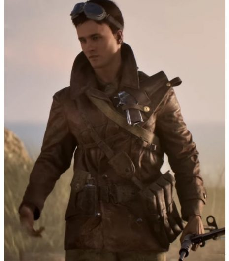 Battlefield 5 Billy Bridger Brown Leather Jacket
