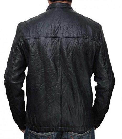 17 Again Zac Efron Black Leather Jacket