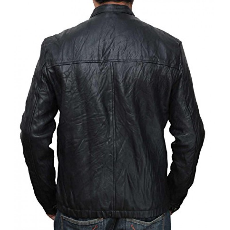 Black Wrinkle Snap Real Leather Jackets-800×800