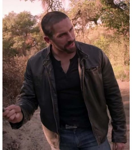 Close Range Scott Adkins Brown Leather Jacket
