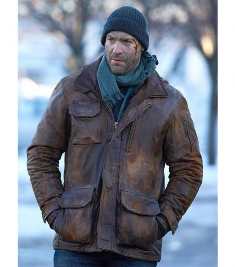 Corey Stoll The Strain Brown Leather Jacket