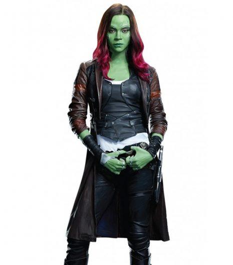 Gamora Leather Coat Guardians Of The Galaxy Vol 2 For Women