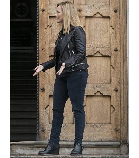 Marlee Matlin Quantico Black Leather Jacket