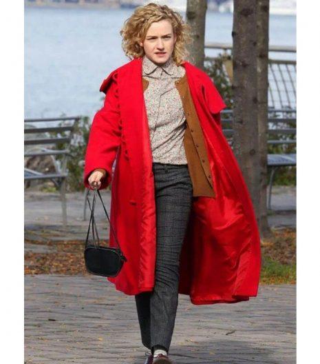 Modern Love Julia Garner Red Hood Coat