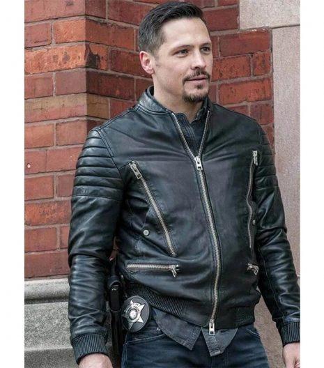 Nick Wechsler Tv Series Chicago Pd Biker Jacket
