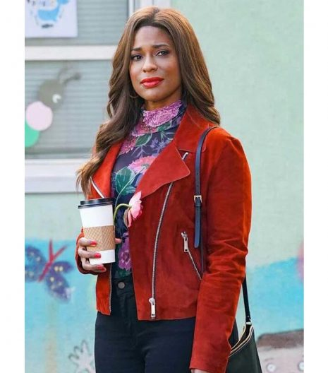 Kimrie Lewis Single Parents Red Jacket