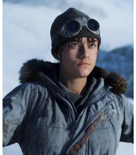 Battlefield 5 Solveig Fia Bjørnstad Fur Hooded Cotton Jacket
