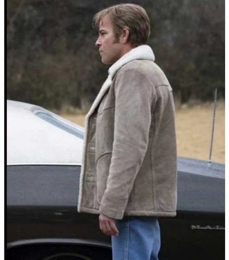 Roland West True Detective Shearling Leather Jacket
