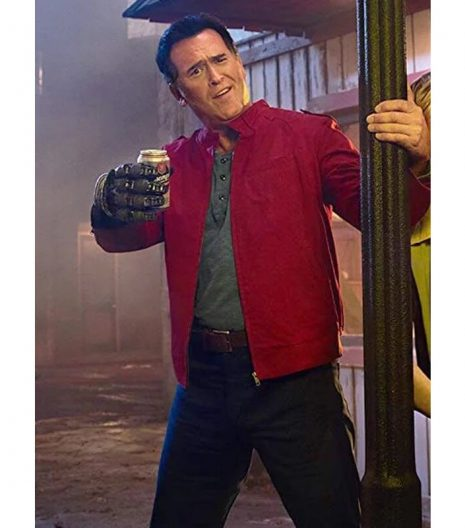 Ash Vs Evil Dead Bruce Campbell Red Jacket