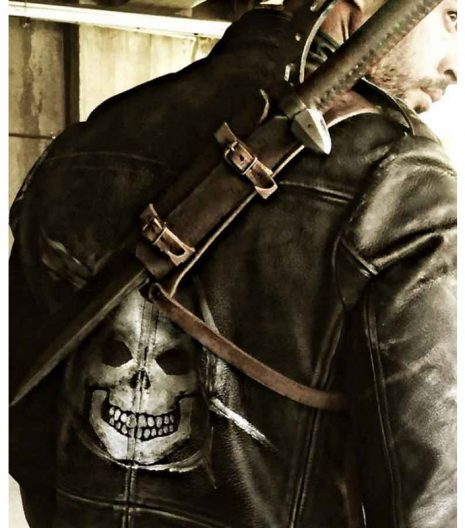 Christian Resident Evil The Final Chapter Distressed Black Leather Jacket