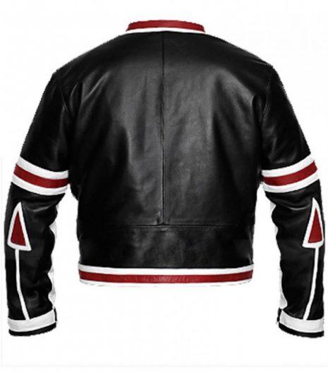 Chaser Box Black And White Biker Leather Jacket For Men