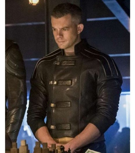 Crisis On Earth X Ray Terrill Black Leather Jacket