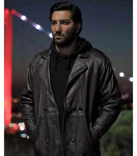 Cukur S04 Berkay Ates Black Leather Coat