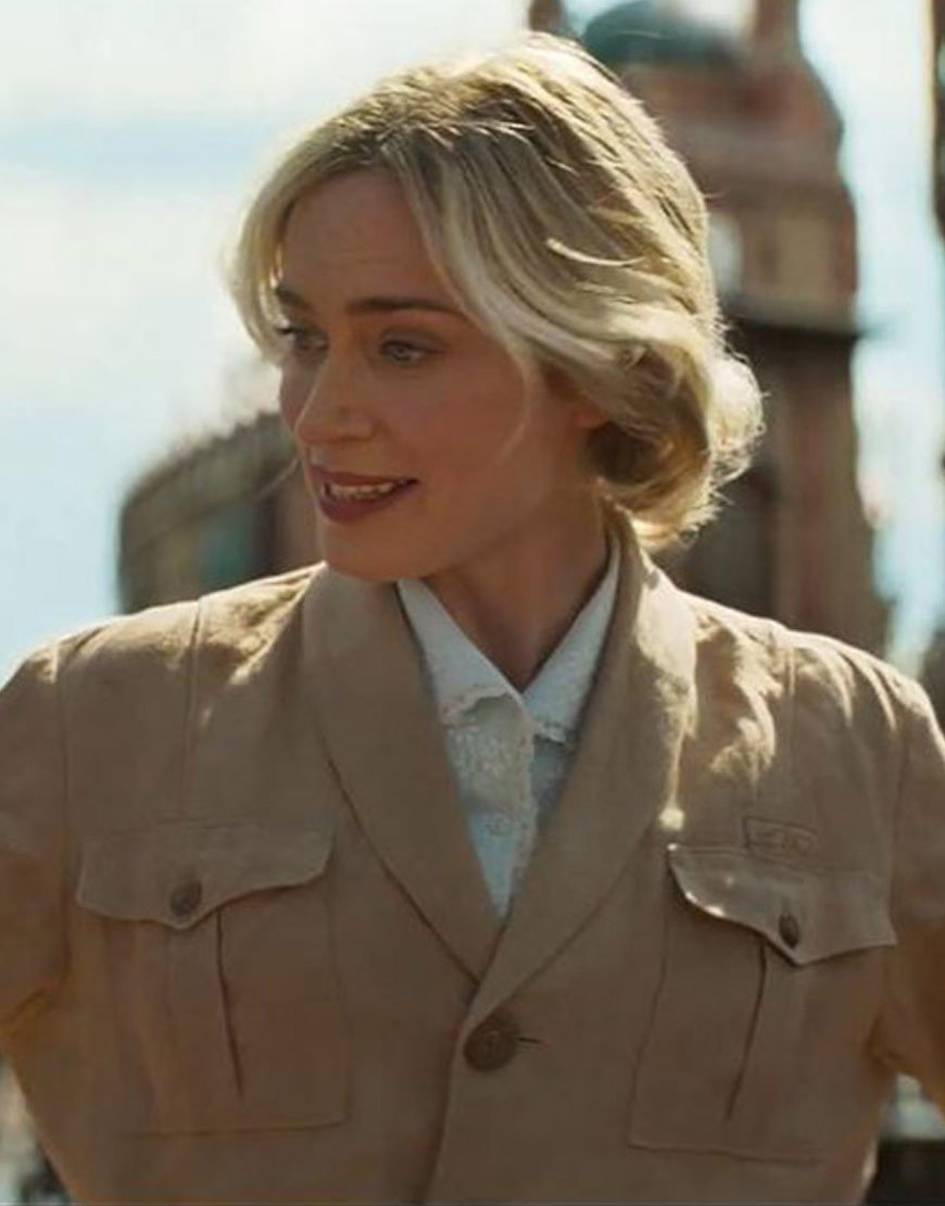 Jungle Cruise Emily Blunt Lily Houghton leather Jacket